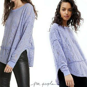 Free People Not Cold In This Lace Top Sz Medium